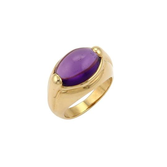 Preload https://img-static.tradesy.com/item/22913887/bvlgari-22015-amethyst-cabochon-18k-gold-ring-0-0-540-540.jpg