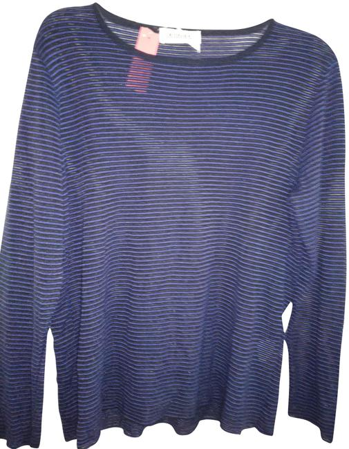Preload https://img-static.tradesy.com/item/22913889/rodier-blue-black-in-france-stripe-tunic-size-14-l-0-1-650-650.jpg