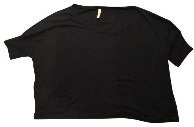Preload https://item5.tradesy.com/images/frenchi-black-cropped-tee-shirt-size-12-l-22913914-0-1.jpg?width=400&height=650