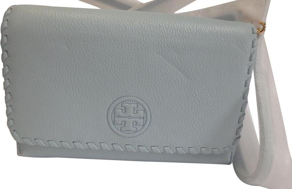 a2443191dabe Tory Burch Marion Flat Wallet Iceberg Leather Cross Body Bag - Tradesy