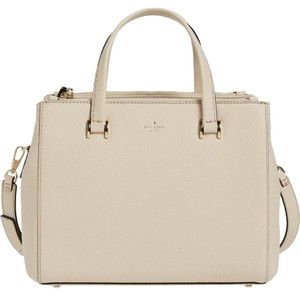 Kate Spade Leather Fallon Satchel in Porcelain