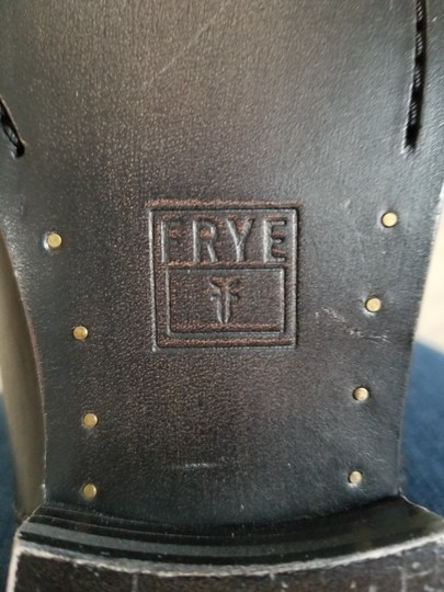 Frye 77167 Melissa Button Leather Size 6 Motorcycle Black Boots