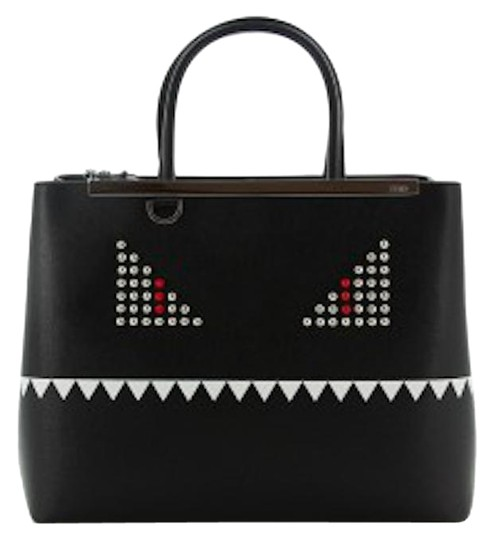 Fendi Studded Leather Limitededition Monster Tote in Black