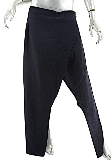 Preload https://item2.tradesy.com/images/navy-virgin-wool-wrap-front-narrow-leg-relaxed-fit-pants-size-8-m-29-30-22914046-0-1.jpg?width=400&height=650