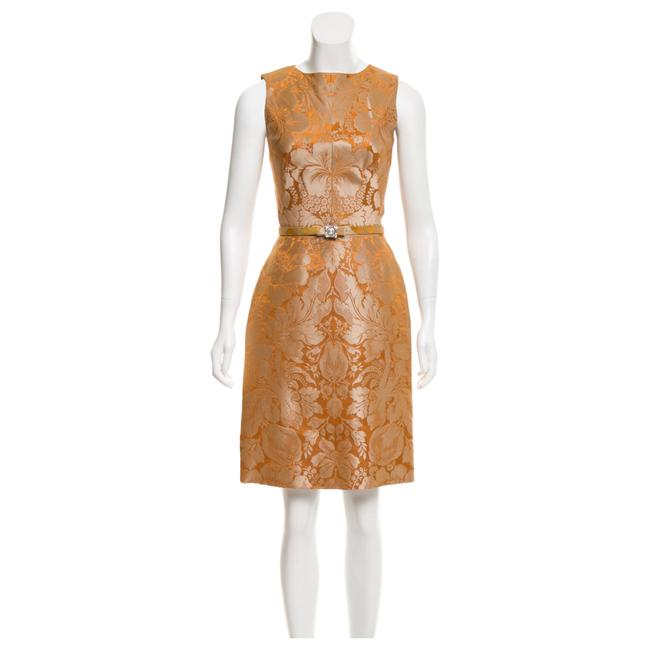 Preload https://img-static.tradesy.com/item/22914053/oscar-de-la-renta-gold-rare-vintage-short-cocktail-dress-size-0-xs-0-0-650-650.jpg