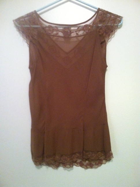 Odille Silk Camisole Anthropology Camisole Top Nude/Taupe