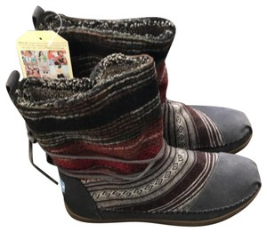 TOMS grey red black Boots
