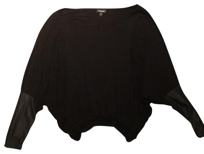 Preload https://item1.tradesy.com/images/bebe-black-with-leather-sleeves-night-out-top-size-8-m-22914080-0-1.jpg?width=400&height=650