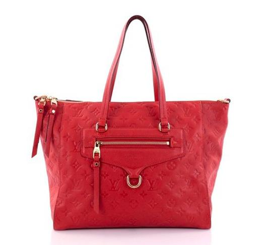 Preload https://item3.tradesy.com/images/louis-vuitton-lumineuse-empreinte-red-leather-tote-22914122-0-0.jpg?width=440&height=440