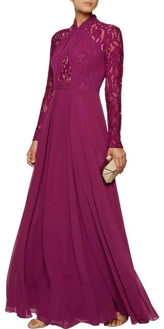 Preload https://img-static.tradesy.com/item/22914124/mikael-aghal-raspberry-lace-paneled-chiffon-gown-long-formal-dress-size-2-xs-0-1-650-650.jpg