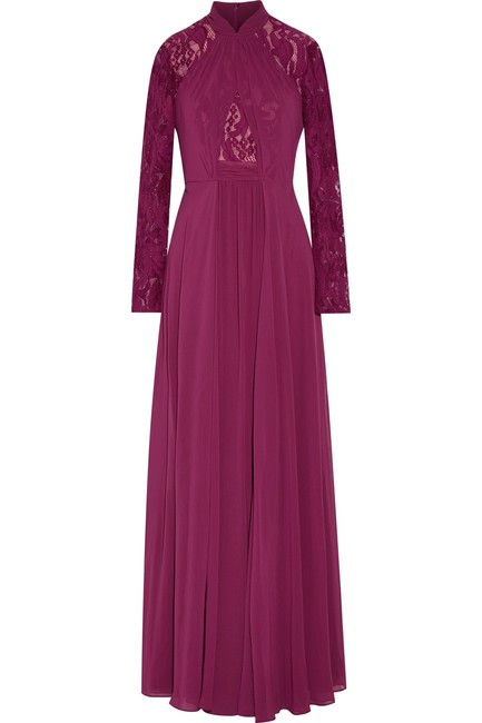 Mikael Aghal Prom Gown Lace Dress