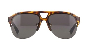 Gucci Havana Grey Aviator Men's Sunglasses