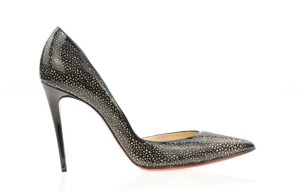 Christian Louboutin Half D'orsay Laser-cut Galupump Red Black Pumps