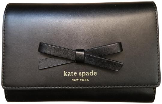 Preload https://img-static.tradesy.com/item/22914172/kate-spade-black-bow-leather-wallet-0-1-540-540.jpg