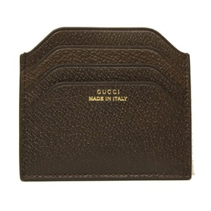 Gucci GUCCI Gucci 'Made in Italy' Pigskin Leather Card Case 322107, Brown