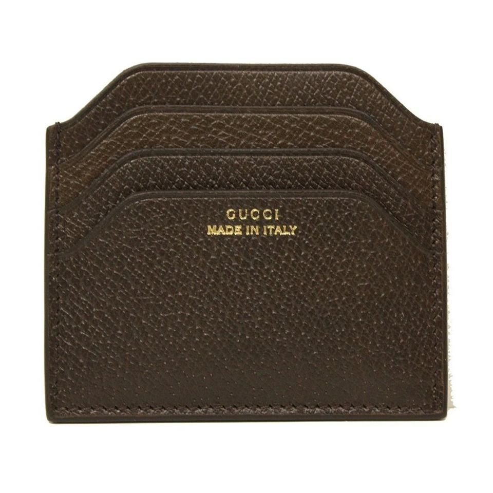 9ad583c2601a Gucci GUCCI Gucci 'Made in Italy' Pigskin Brown Leather Card Case 322107  Image 0 ...