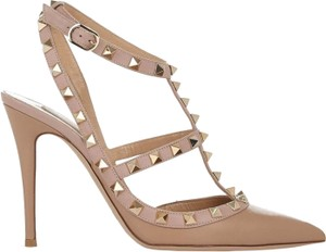Valentino Slingback Rockstud Beige Tan/Powder Pumps