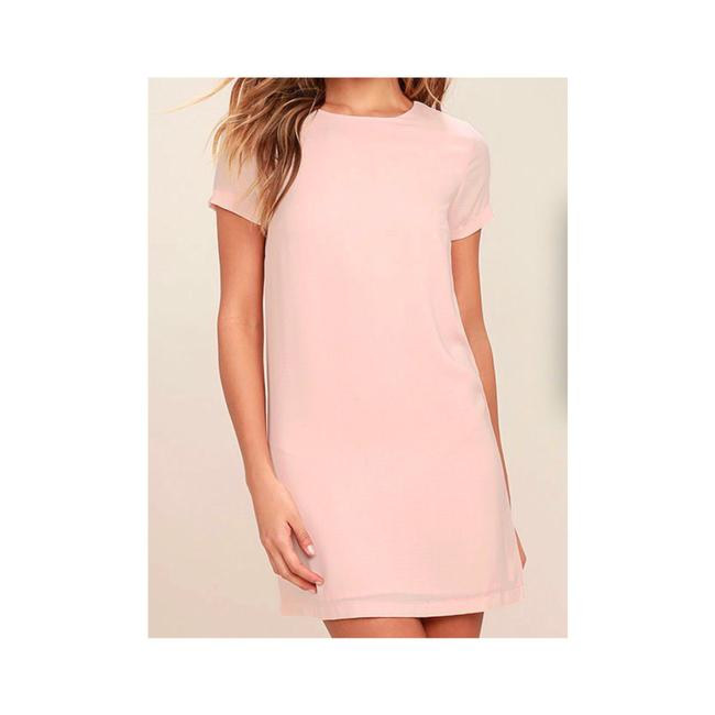Preload https://item2.tradesy.com/images/lulus-blush-shift-and-chiffon-short-casual-dress-size-4-s-22914226-0-1.jpg?width=400&height=650