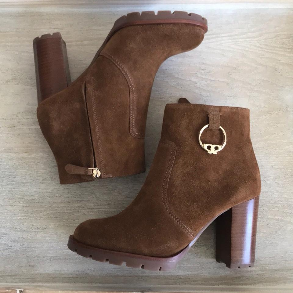 6cf8235066c Tory Burch Festival Brown Sofia Lug Sole Boots Booties Size US 8 ...