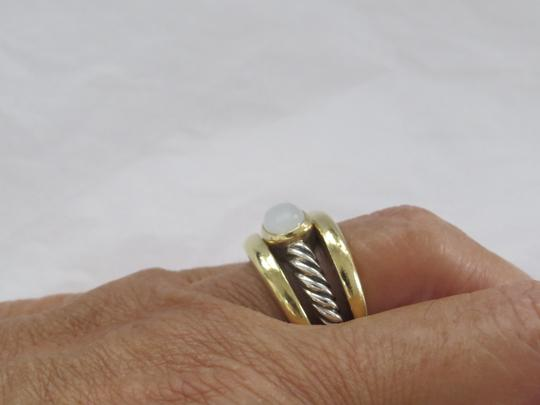 David Yurman Bamboo Collection SS/18k Moonstone Ring