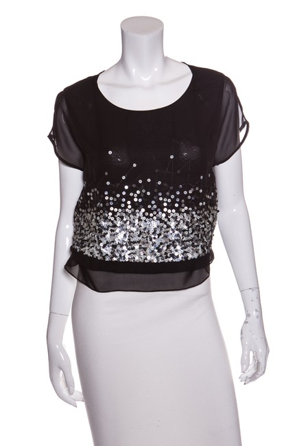 Preload https://img-static.tradesy.com/item/22914370/robert-rodriguez-black-and-silver-sequin-detail-blouse-size-4-s-0-0-650-650.jpg