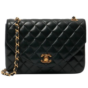 Chanel Vintage Lambskin Leather Shoulder Quilted Cross Body Bag