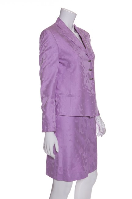 Versace Lilac Sequin Llined 2 PC Skirt Suit