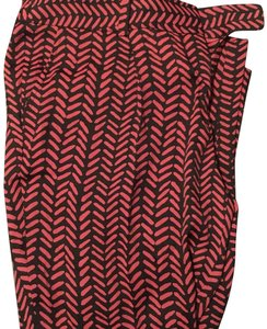 Ann Taylor LOFT Trouser Pants red and black