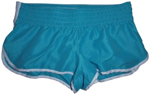 Xhilaration Stripes Jogging Gym Kickboxing Aqua, Blue Shorts