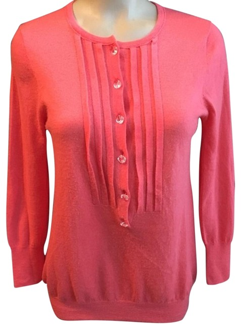 Preload https://item2.tradesy.com/images/jcrew-coral-cashmere-cardigan-sweaterpullover-size-8-m-22914461-0-1.jpg?width=400&height=650