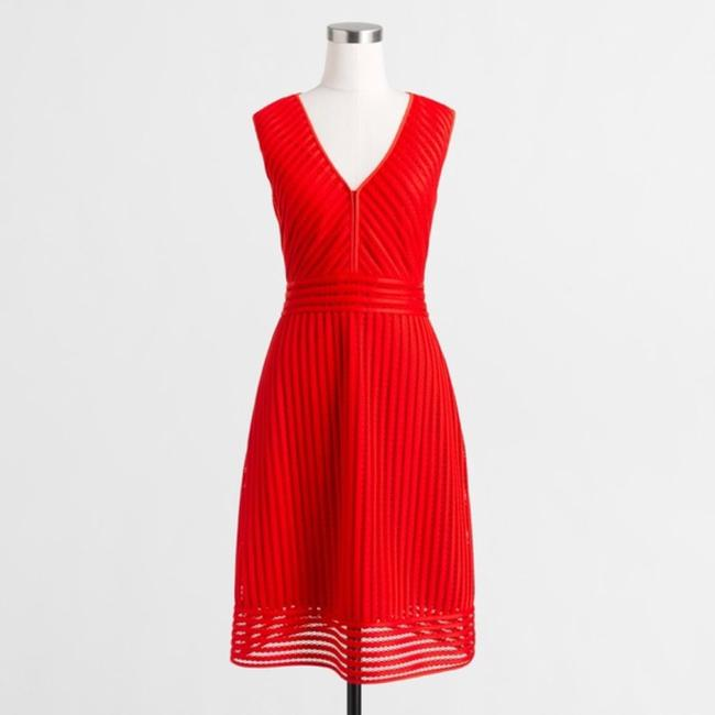 J.Crew short dress red on Tradesy