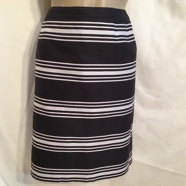 Talbots Skirt Blue & White