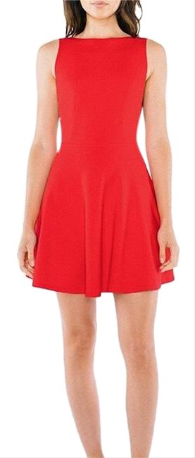American Apparel short dress red on Tradesy
