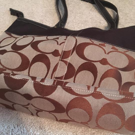 Coach Imitation Tote in Brown