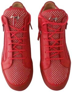 Giuseppe Zanotti Women's Sneakers Made In Italy Red Athletic