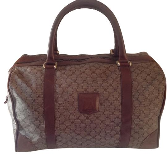 Preload https://img-static.tradesy.com/item/2291467/celine-boston-overnight-travel-rare-vintage-light-brown-boston-leather-and-coated-canvas-satchel-0-0-540-540.jpg