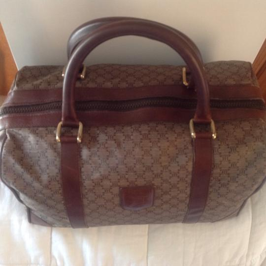 Céline Satchel in Rare Vintage Light Brown Boston
