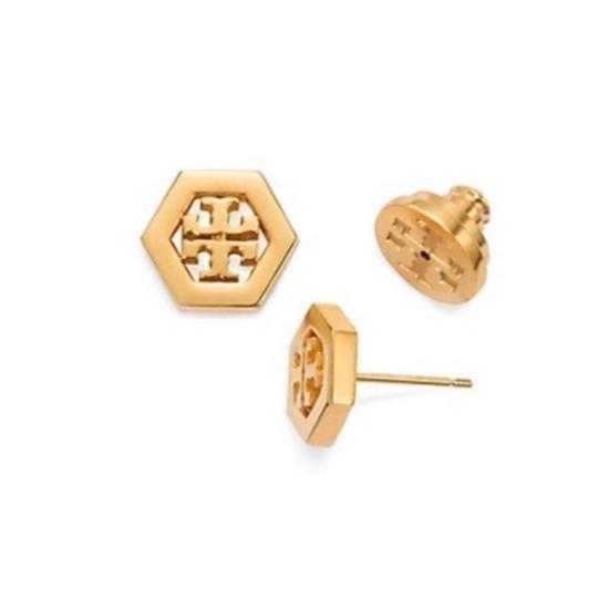 Preload https://img-static.tradesy.com/item/22914759/tory-burch-gold-stud-hex-logo-earrings-0-0-540-540.jpg