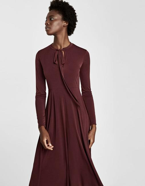 Dark Maroon Maxi Dress by Zara