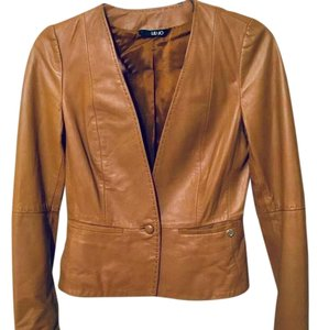 Liu Jo tan Leather Jacket