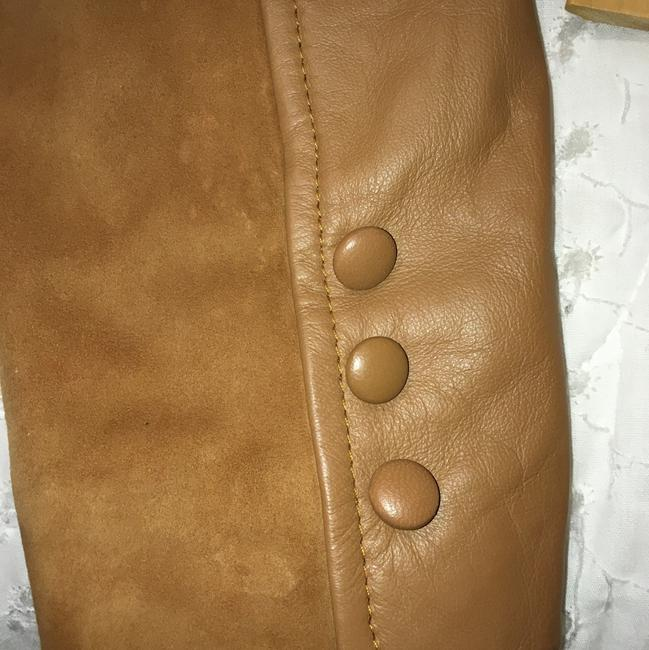 Liu Jo tan leather and suede Leather Jacket