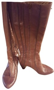 Tsubo Leather Heels 7 Tan Boots