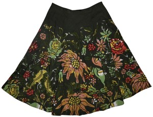 Mossimo Supply Co. Sequined Flowers Bohemian Skirt