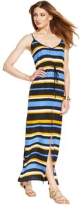 Black, Blue, and Yellow Maxi Dress by MICHAEL Michael Kors