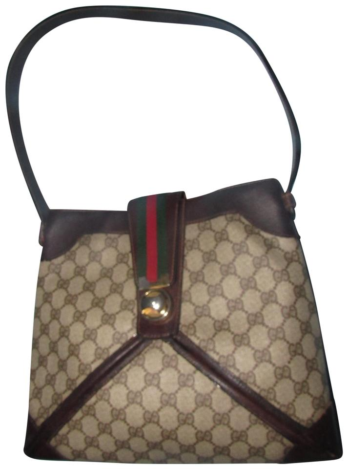 5aebba7620d Gucci Rare Early Style Excellent Vintage High-end Bohemian Unique Twist  Lock   Hobo Bag ...