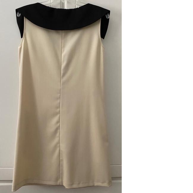Love Moschino Cream With Tuxedo Bow Collar Detail Nwot Mid-length Cocktail Dress Size 6 (S) Love Moschino Cream With Tuxedo Bow Collar Detail Nwot Mid-length Cocktail Dress Size 6 (S) Image 2