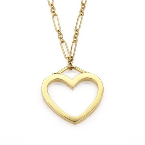 Tiffany co 18k yellow gold sentimental large heart pendant 18k yellow gold sentimental large heart pendant necklace mozeypictures Gallery