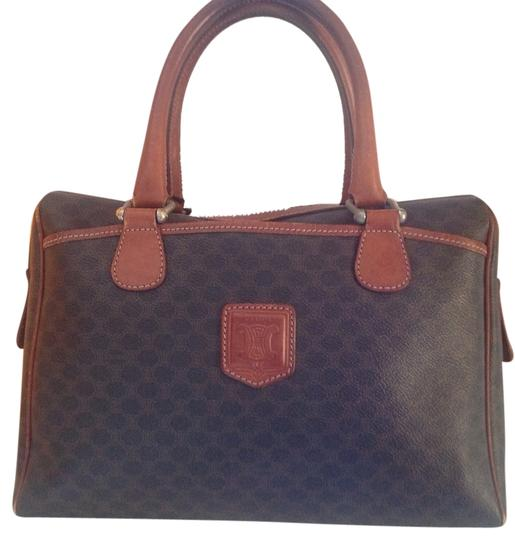 Preload https://item4.tradesy.com/images/celine-boston-macadam-vintage-brown-leather-and-coated-canvas-satchel-2291518-0-0.jpg?width=440&height=440