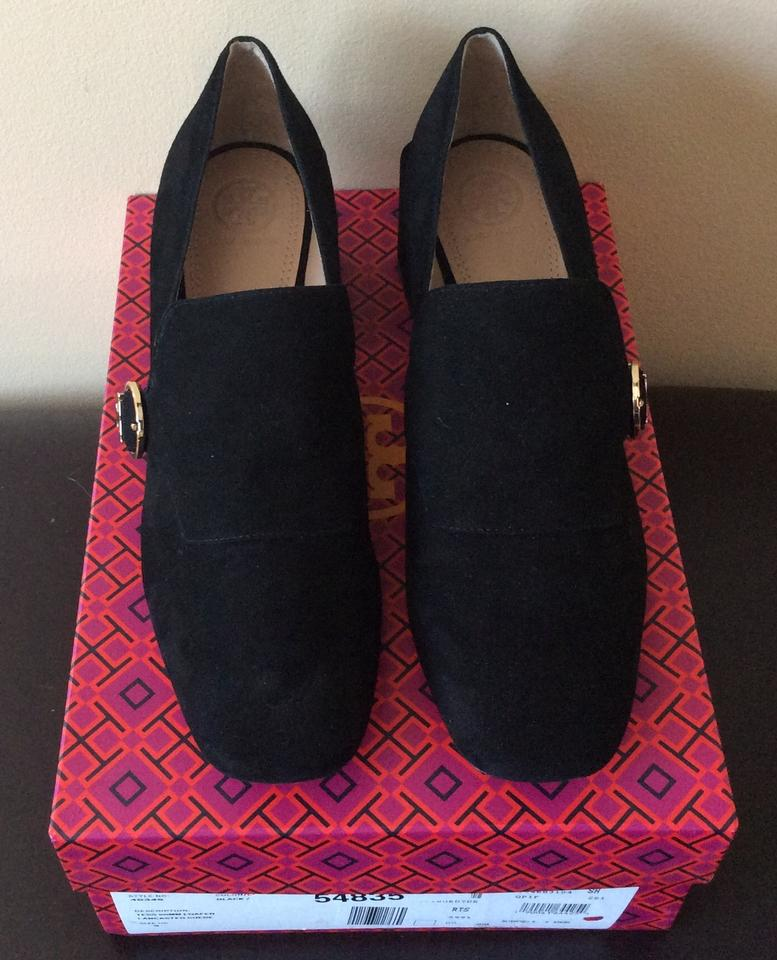5c38f5dd00ed Tory Burch Black Suede Tess Loafer Pumps Size US 9 Regular (M