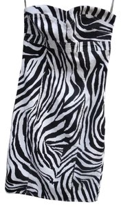 Forever 21 Bandage Hourglass Strapless Zebra Party Dress
